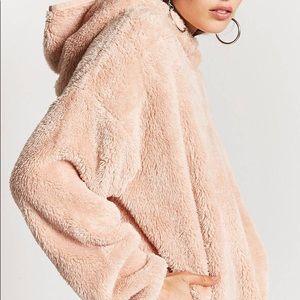 Forever 21 pink Sherpa jacket